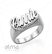 0.925 Silver Name Ring