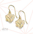 18k Gold Plating over 0.925 Silver Monogrammed Earrings