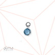0.925 Sterling Silver Birthstone charm - NO CHAIN