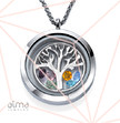 0.925 Silver Floating Locket - Family Tree