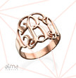Rose Gold Plated Monogram Ring