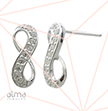 Infinity Cubic Zirconia Stud Earrings