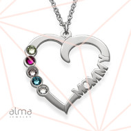Birthstone Heart Necklace - My Eternal Love Collection