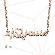 Rose Gold Plated Signature Custom Heartbeat Necklace