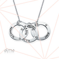 Perfect Gift for Mom - Engraved Family Circle Necklace