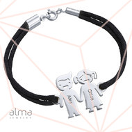 Kids Holding Hands Charms Bracelet