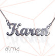 14k White Gold Name Necklace - Script