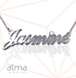 14k White Gold and Diamond Name Necklace
