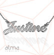 14k White Gold Name Necklace - Twist Chain