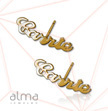 14K Gold Name Stud Earring