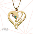Two Hearts Forever One Necklace with Gold Plating