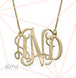10k Gold Monogram Necklace