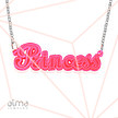 High Quality Neon Pink! Name Necklace