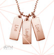 "Inspirational Jewelry - ""Live Laugh Love"" Necklace RGP"
