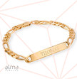 ID Bracelet for Men With Gold Plating