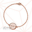 Rose Gold Plated Silver pendant Bracelet