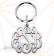 Sterling Silver Celebrity Monogram Keychain