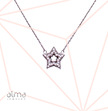 Star With Cubic Zirconia Silver Necklace