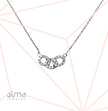 3 Circle Necklace With Cubic Zirconia