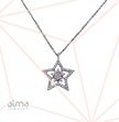 Cubic Zirconia Star Silver Necklace