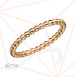 Rose Gold Filled Dotted Eternity Ring - Size M