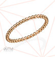 Rose Gold Filled Dotted Eternity Ring - Size S