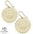 My Only One - Flower Mandala 18K Gold Plated Sterling Silver Earrings
