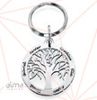 0.925 Silver Personalized Family Tree Keychain