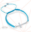 0.925 Sterling Silver Cross Bracelet