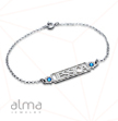 Name Bracelet with Birthstones