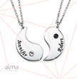 Engraved Yin Yang Necklace