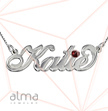 Silver Name Necklace - Carrie -  Swarovski