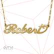 18k Gold-Plated Silver Name Necklace - Carrie - Double Thickness