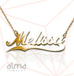 14K Gold Wave Name Necklace