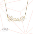 14k Gold Name Necklace - Smaller Version -  Carrie