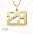 18k Gold Plated Sterling Silver Number Necklace