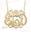 Celebrity Monogram Necklace in 14k Gold