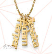 Vertical Name Necklace in 18k Gold Plating