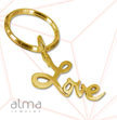 "18K Gold Plated ""Love"" Keychain"