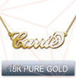 18K Solid Gold Name Necklace - Carrie