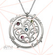 Birthstone Family Tree Necklace - Yours Truly Collection