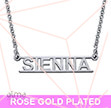 Rose Gold Plated Bar Name Necklace - Cut Out Design