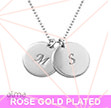 18K Rose Gold Plated Disc Pendant Necklace