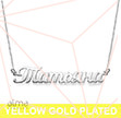 Gold Plated Russian Name Necklace