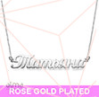 Rose Gold Plated  Russian Name Necklace
