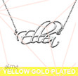 Script Necklace in Gold Plated Sterling Silver - Personalized