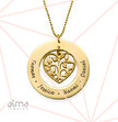 Heart Family Tree Necklace in 18k Gold Plating