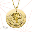 Family Tree Necklace for Moms - Gold Plated