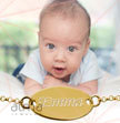 18k Gold-Plated 0.925 Silver Baby Name Bracelet