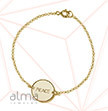 Gold Plated Silver pendant Bracelet